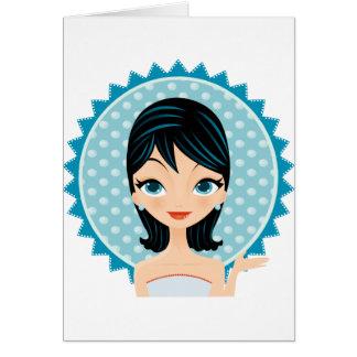 Retro Girl Card
