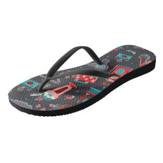 Retro Girl Flip Flops