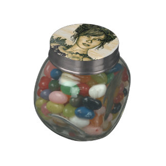 Retro Girl Jelly Belly Candy Jar