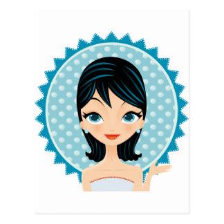 Retro Girl Postcard