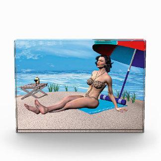 Retro Girl under the Sun Acrylic Award