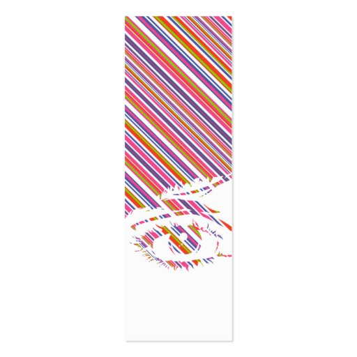 Retro Girls Face in Silhouette Bookmark Business Card Templates
