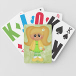 Retro Girly Colorful Doll Bicycle Poker Cards