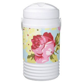 Retro Girly Floral Cooler