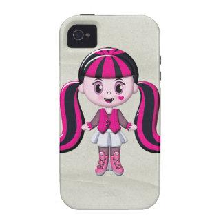 Retro Girly Monster Vampire Girl iPhone 4/4S Case