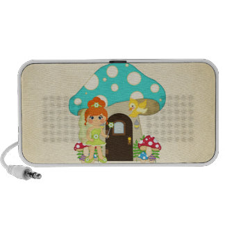 Retro Girly Mushroom Fairy Faeries PC Speakers