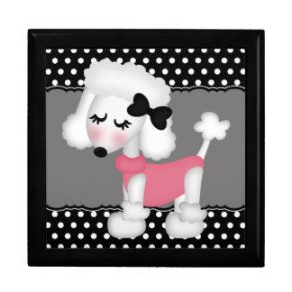 Retro Girly Paris Poodle Dog Gift Boxes