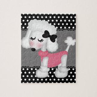 Retro Girly Paris Poodle Dog Puzzles