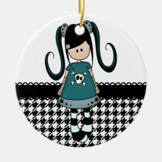 Retro Girly Rag Doll Christmas Tree Ornament