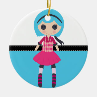Retro Girly Rag Doll Ornament