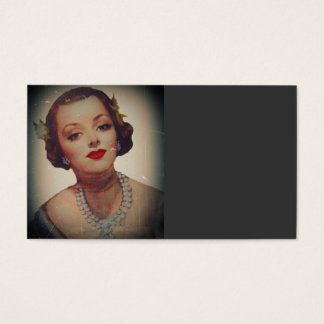 Retro Glam Girl Lipstick Business Card