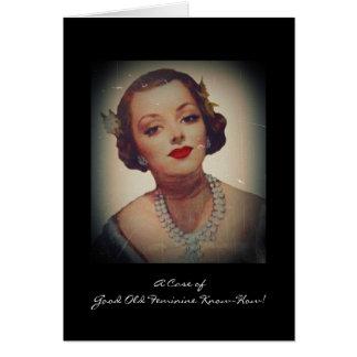 Retro Glam Girl Lipstick Card