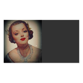 Retro Glam Girl Lipstick Double-Sided Standard Business Cards (Pack Of 100)