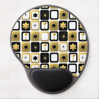 Retro Glamorous Gold Gel Mousepad