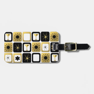 Retro Glamorous Gold Luggage Tag