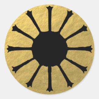 Retro Glamorous Gold Starburst Stickers
