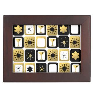 Retro Glamorous Gold Wooden Keepsake Box
