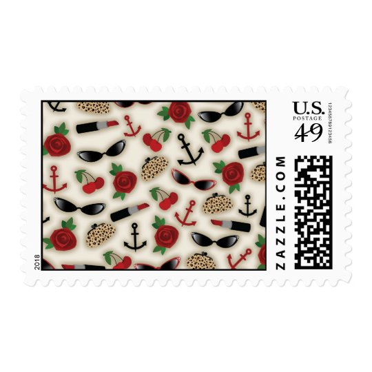 Retro Glamour Themed Postage