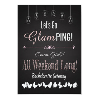 Retro Glamping Bachelorette Getaway Weekend Card