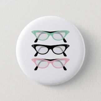 Retro Glasses Button