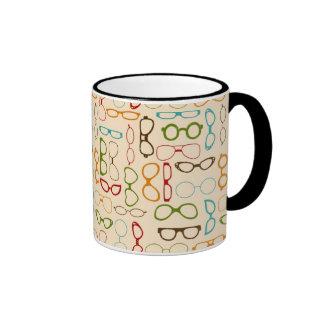 Retro glasses mug