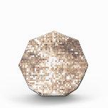 Retro Glitter Acrylic Award