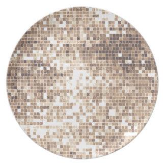 Retro Glitter Melamine Plate