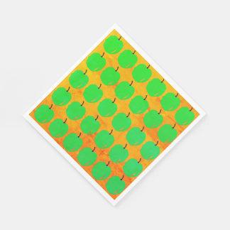 RETRO-GLOW-GREEN-APPLE'S--NAPKIN-DECOR PAPER NAPKIN