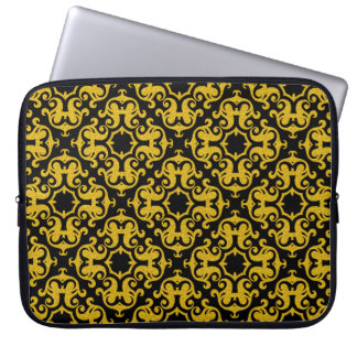 Retro Gold Ornaments Pattern Computer Sleeve