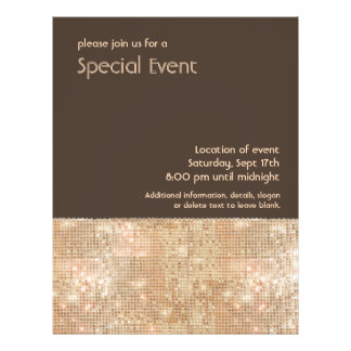 Retro Gold Sequins Party Flyer