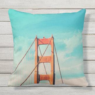 Retro Golden Gate San Francisco Outdoor Pillow