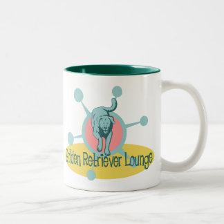 Retro Golden Retriever Lounge Two-Tone Coffee Mug