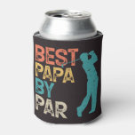 Retro Golfer - Best Papa By Par Can Cooler