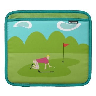 Retro Golfer iPad Sleeve