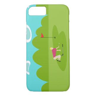 Retro Golfer iPhone 7 Case