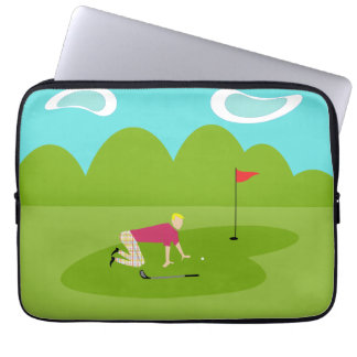 Retro Golfer Laptop Sleeve