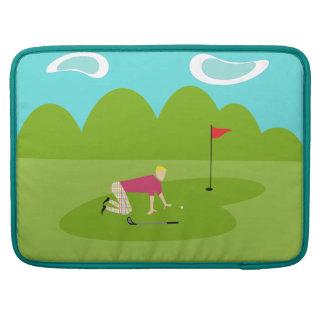 Retro Golfer MacBook Pro Sleeve