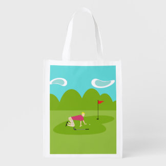 Retro Golfer Reusable Bag