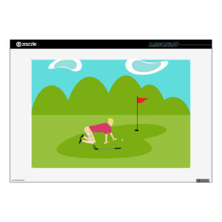 Retro Golfer Vinyl Laptop Skin
