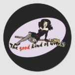 Retro Good Kind of Witch Classic Round Sticker