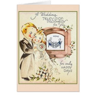 Retro Good Wishes Wedding Card