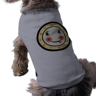Retro Goofy Clock Face Doggie T-shirt