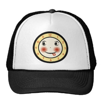 Retro Goofy Clock Face Trucker Hat