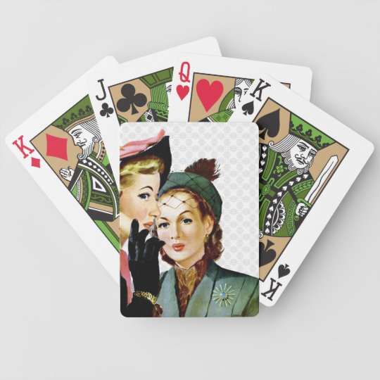 Retro Gossip Bicycle Playing Cards