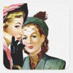 Retro Gossip Square Sticker