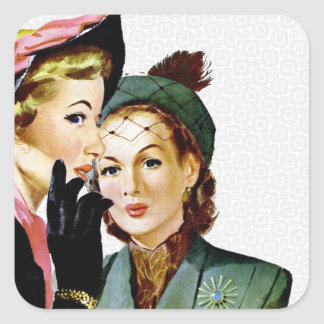 Retro Gossip Square Sticker