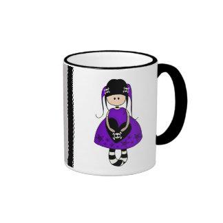 Retro Goth Girl with Skulls Mug