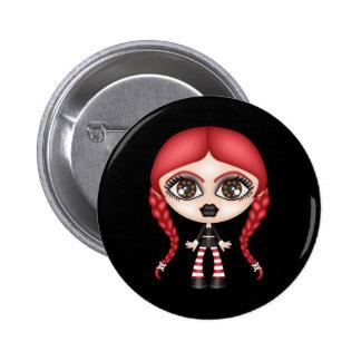 Retro Goth Gothic Doll 2 Inch Round Button