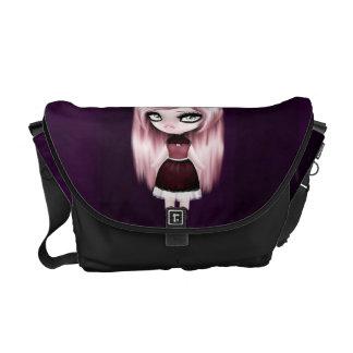 Retro Goth Gothic Doll Courier Bag