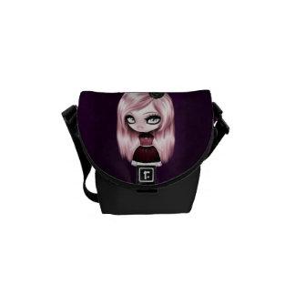 Retro Goth Gothic Doll Messenger Bag